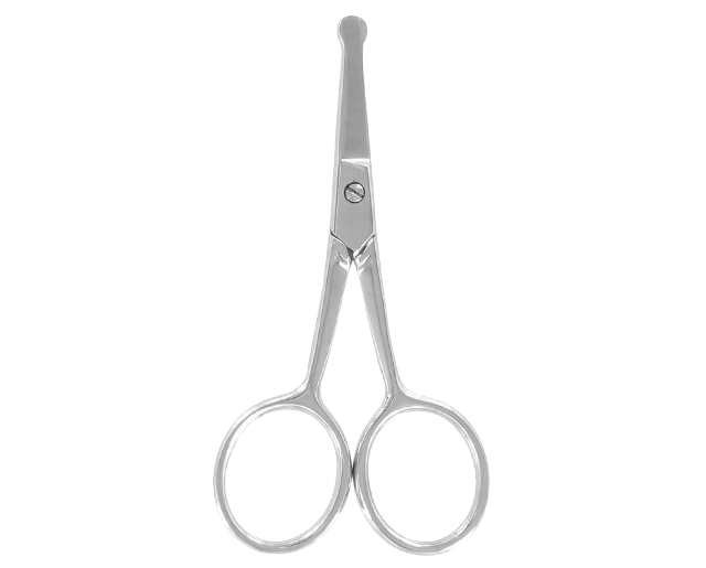 Curved scissors for nose hair