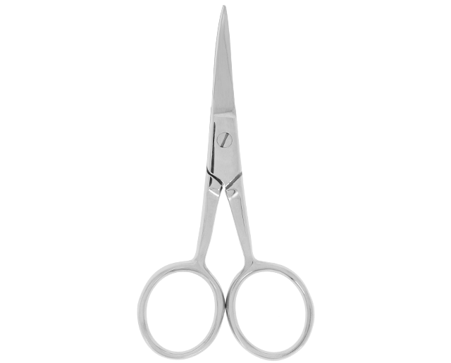 Curved scissors for eyebrows